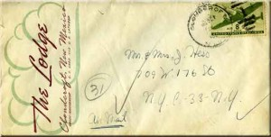 The 1946 Letter From Cloudcroft Envelope Front