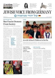 Reaction to – Jewish Voice From Germany
